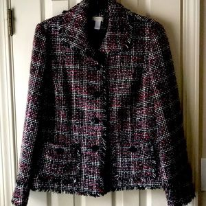 $15 2/$24 3/$30 Chico's jacket with fringed edges
